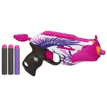 Juguete Nerf Blaster Pistola Lanzadora De Dardos Rosado