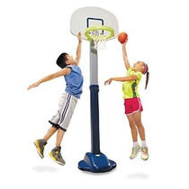 Little Tikes Ajustar Y Jam Pro Basketball Set Blue