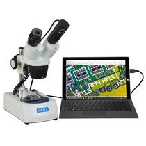 Tb Microscopio Omax 20x-40x-80x Cordless Dual Led