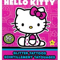 Tatuajes Temporales Con Glitter Hello Kitty Sanrio