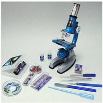 Microscopio Entretenimiento Metal 900x Set Maletin 50pzas.