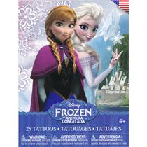 Tatuajes Temporales Frozen Anna Elsa Olaf Disney
