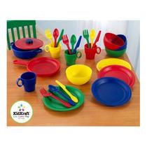 Utensilios De Cocina Kidkraft 27 Piezas En Colores Primarios