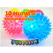 Pelota De Picos Con Luz Led Precio Mayoristas Fiesta Piñata