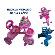 Triciclo Niño Niña Montable Musical Carrusel Reforzado
