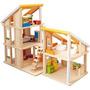 Planee Toy Chalet Casa De Muñecas Con Muebles