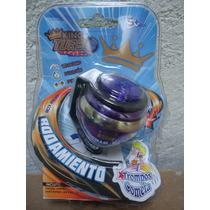 Trompo Cometa King Turbo Con Rodamiento Color Morado