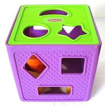 Cubo Ensarta Figuras De Plástico