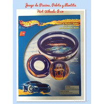 Alberca Piscina, Llantita Y Pelota Hot Wheels Inflables