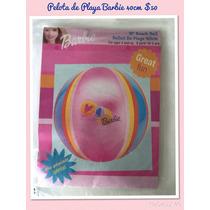 Paquete De 12 Pz Pelotas Playa Barbie Inflable 40cm