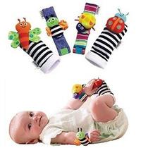 4 X Bebé Infantil Suave Juguete Muñeca Sonajeros Manos Foots