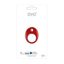 Juguete Anillo Vibradores Estimulador Ovo B11 Rojo