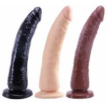 Dildo Chupon Suave Flexible 20x4cm Juguete Sexual Consolador