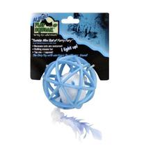 Pelota Juguete Raton Peluche Luz Azul Brilla Sonido Gato E4f