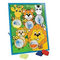 Jungla Animal Kids Beanbag Toss Juego-grande Para Los Partid