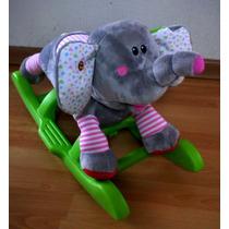 Mecedora Montable Animalitos Con Sonido Unicornio, Elefante