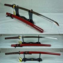 Katana Roja Ten Ryu Musashi 100% Funcional Tr-001rd