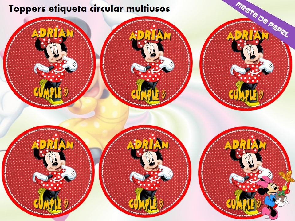 Ki-032 Kit Imprimible Y Editable Minnie Mouse Roja - $ 28.40 en ...