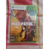 Video Juego Max Payne 3 Para Xbox 360 Nuevo Con 2 Discos