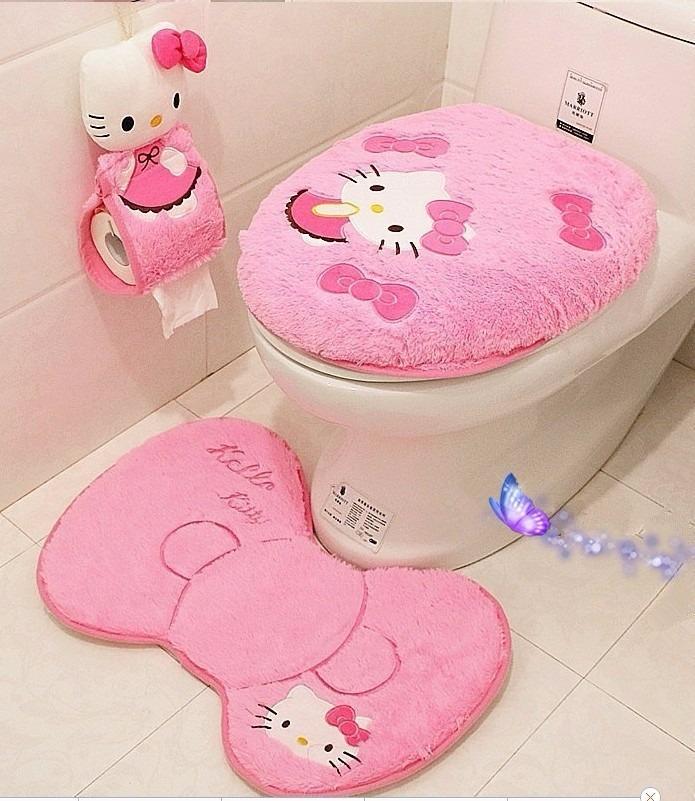 Accesorios De Baño Hello Kitty:Kit Baño Hello Kitty Envio Gratis – $ 1,30000 en MercadoLibre