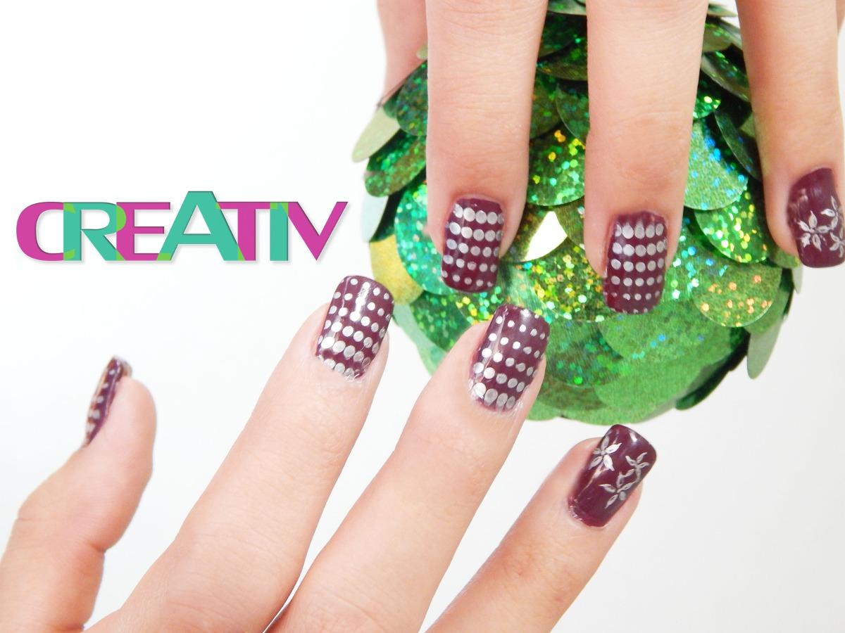 Kit decorado u as con placas y sellos creativ moda for Decorado unas