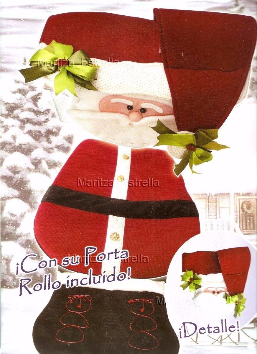 Lenceria De Baño Patrones:Kit Patrones Lenceria Navidad Juegos De Baños Muñecos Arbol – $ 99