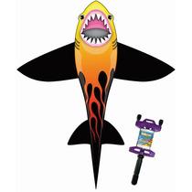 Papalote X Kite Tiburon Con Todo Para Volarlo ! Nuevo .