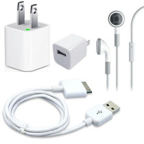 Kit Iphone Ipod Cargador, Cable Usb, Audifonos Planetaiphone