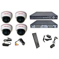 Kit Sistema Vigilancia Seguridad 4 Camaras + Dvr 8 Canales