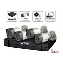 Kit Saxxon 4 Camaras 1 Megapixel Vision Nocturna, Cctv