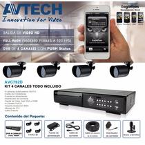 Kit Dvr De 4ch Full 960h/salida De Video Hdmi/incluye 4
