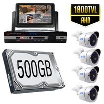 Kit Cctv Videovigilancia Circuito Cerrado 4 Camaras Monitor