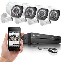 Kit Seguridad Zmodo Zp-ke1h04-s Nvr Spoe 4 Hd 720p Vision Ip