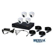 Kit Meriva Dvr Standlone 8 Canales Y 4 Audio Y 4 Cáms. Domo