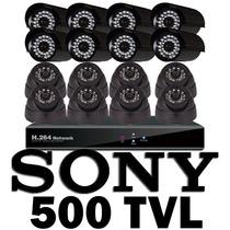 Kit Cctv Vigilancia 16 Camara 500 Tvl Sony Acceso Remota Daa