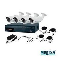 Kit Cctv 4 Camaras Meriva 800 Tvl Monitoreo Web Ir 20 Metros