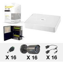 Kit Cctv Epcom 16 Camaras, Dvr 16 Canales 900tvl