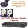 Kit Hikvision Dvr 32 Canalesturbohd Y 16 Cámara Bala 1080p +
