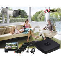 Kit Dahua 4ch.hd Alta Definición Dvr Tri-hibrido 4 Cams.1 Mp
