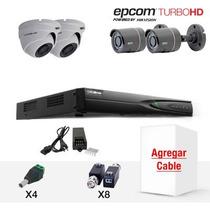 Turboeb74/2 Epcom Cctv Kit Dvr 4ch Completo Turbo Hd