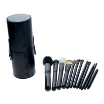 M3014ng Set 12 Brochas Negras Para Maquillaje Con Estuche