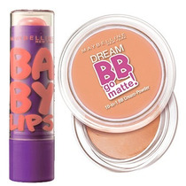 Kit Maybelline Dream Bb Go Matte Obscuro/ Bb Lips Peach Kiss