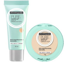 Maybelline Kit Pure Makeup Polvo / Base De Maquillaje Claro