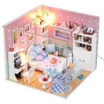 Dollhouse Miniatura Kit Diy Cubierta Sueño Secret Love Dormi
