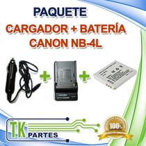 Kit Cargador Y Batería Canon Nb-4l Ixus 30 Ixus 40 Ixus 50