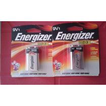 Juego 2 Baterías Alcalinas 9v1 Energizer Max. Cuadradas