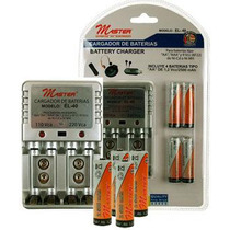 2 Cargadores Baterias Aa Aaa 9v 6f22 + 8 Pilas Aa 2500 Mah A