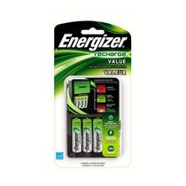 Cargador Energizer + 4 Baterias Aa Recargables Pilas Maa