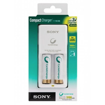 Pilas Recargables Sony Aa Con 2 Pilas Y Cargador Bcg34hw2kn/