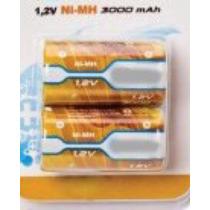 Paquete De 2 Pilas Recargables C Nimh 3000 Mah Batnmc2